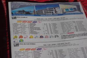 Programme des courses de l'hippodrome de Cagnes sur mer